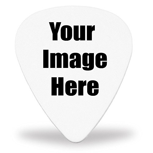 30 Custom Guitar Picks - White Delrin - Your Own Logo or Design ()