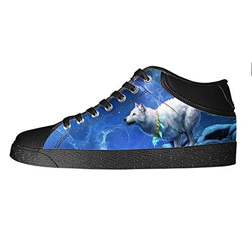 Le Scarpe In Tela Delle Alto Men's Lupo Shoes Sopra Canvas E Da Di Custom Ginnastica Lacci Luna I 4OvWzWBq