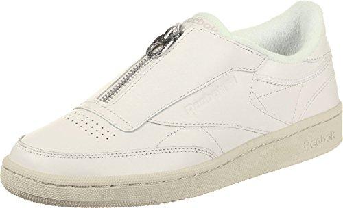 Reebok Klub C 85 Zip Damer Sneaker Hvid Beige CDDEVraBIa