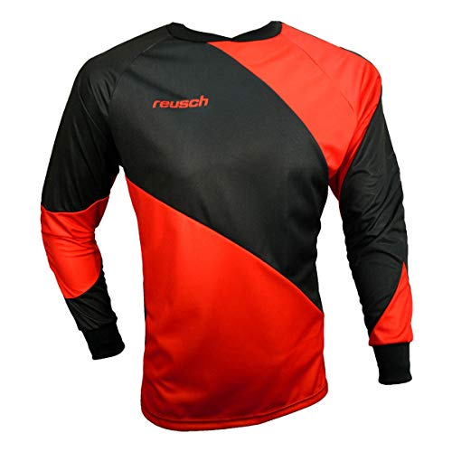 Reusch Prisma Long Sleeve Goalkeeper Jersey, Red/Black, Adult Small ()