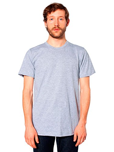 American Apparel  Unisex Fine Jersey Short Sleeve T-Shirt, Heather Grey, - Tie Apparel American