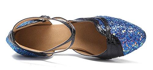 TDA - Sandalias con cuña mujer 7.5cm Blue