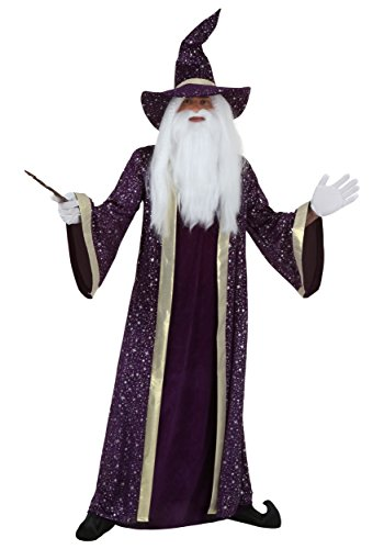 [Plus Size Wizard Costume 3X] (Sorcerer Costume For Men)