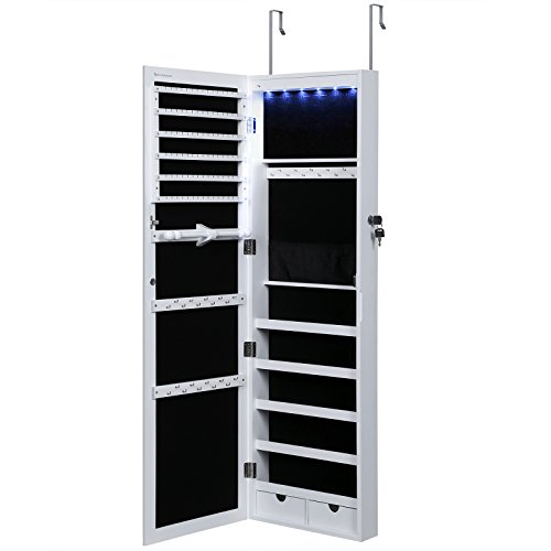 SONGMICS 6 LEDs Cabinet Lockable 47.3
