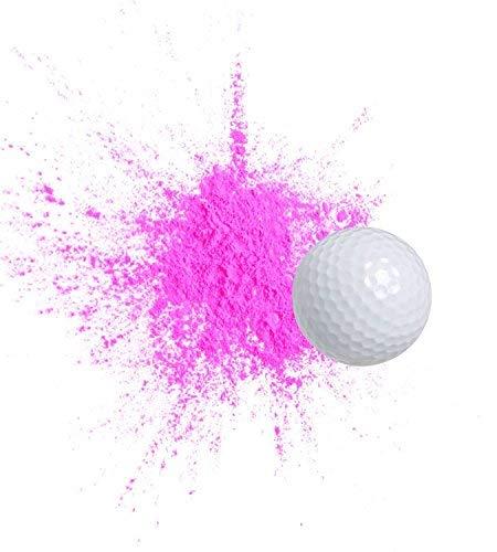 Exploding Trick Golf Balls + Gender Reveal Party Gag Gift for Golfers, Blue & Pink Exploding Golf Balls (2 Pink) ()