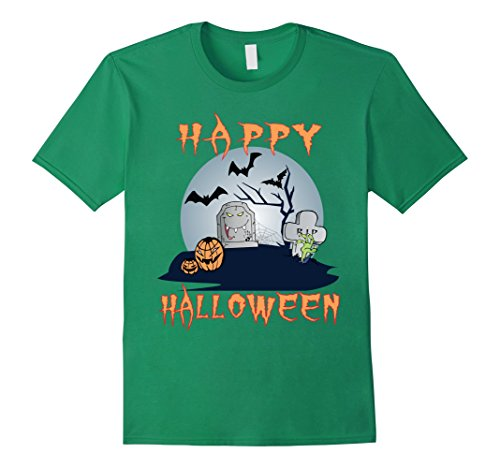 Mens SCARY SPOOKY HAPPY HALLOWEEN T-SHIRT TEE Large Kelly (Haunting Ground All Costumes)