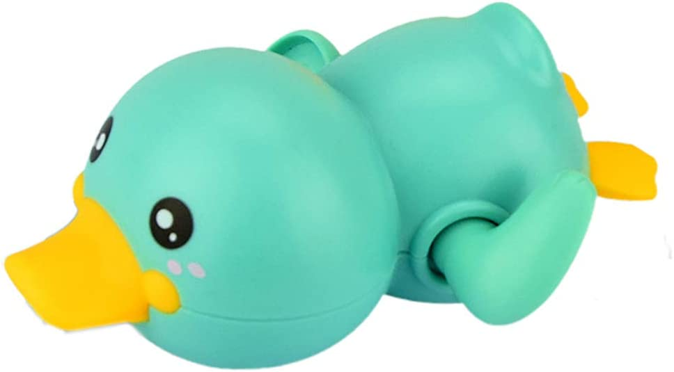 Yellow+Red+Green NEXTAKE Kids Bath Toy Wind-up Swimming Duckling Clockwork Bathtub Toy Water Toy for Toddlers