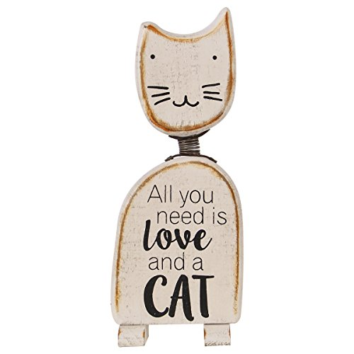 NIKKY HOME Cute Cat Figurine Decorative Sculpture for Room Decor Animal Lovers
