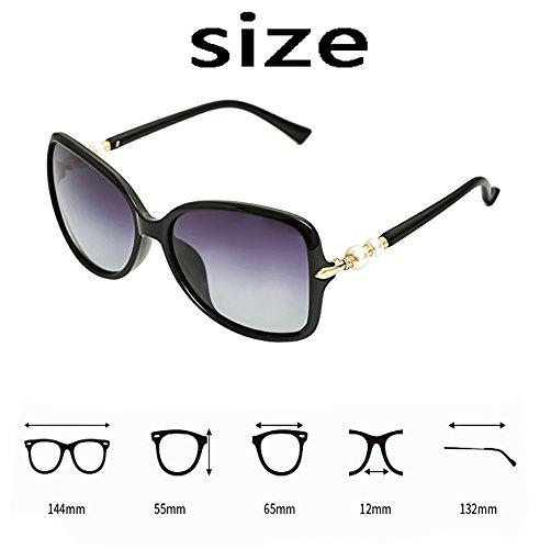 Cara Polarizadas Larga Rojo Gafas De BSNOWF Hembra Luz Color Gafas Anti Vendimia Eye de UV La sol Redonda Cara Marrón De SxqPIRpY