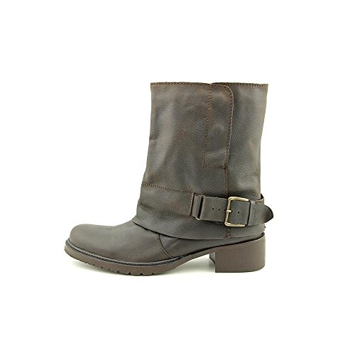 Toe Motorcycle Dark Adam Almond Mid Calf Tucker Brown 4 Leather Womens Boots Ledger HYznw4xTz