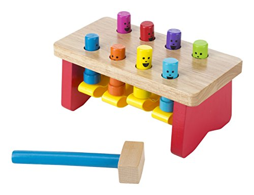 Melissa & Doug Deluxe Pounding Bench Wooden Toy