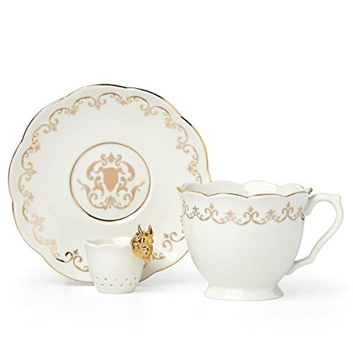 Disney Beauty & the Beast Cup, Saucer & Infuser by - Disney Porcelain