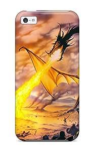 ZippyDoritEduard Perfect Tpu Case For Iphone 5c/ Anti-scratch Protector Case (dragon)