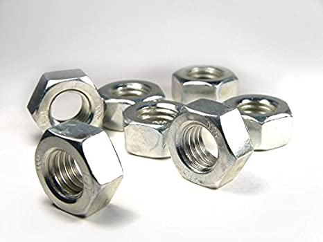 DIN934 PROFI 6kt MUTTER RGW K8 VZ SGH M10 50 Stck DIN 934 // ISO 4032 // ISO 4033 PROFI Sechskant Standard Mutter Regel -Gewinde Klasse 8 verzinkt Stahl geh/ärtet