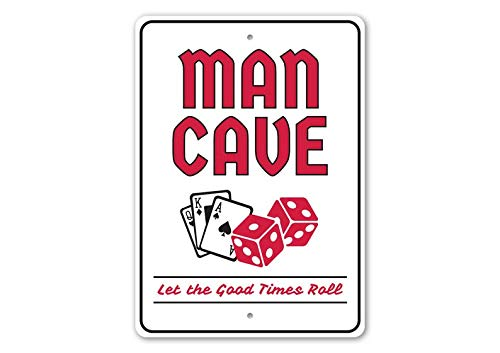 T56imh Gamble Man Cave, Card Cave Decor, Poker, Texas Holdem Decor, Poker House Gift Sign, Poker Decor, Room Decor, Metal Sign, Quality Metal