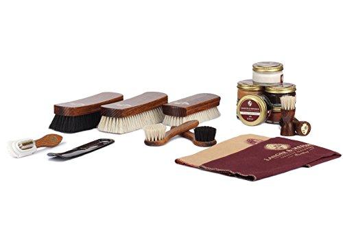 Langer & Messmer set de 17 pièces pour l´entretien e le soin professionnel de vos chaussures contenant crèmes de cirage… 1