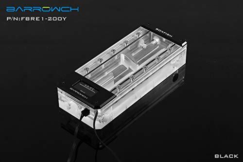 Barrowch 200mm Boxfish Series Acrylic Box Reservoir with OLED Display & D-RGB LED - Black by Barrowch
