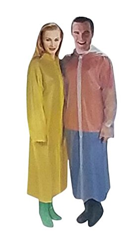 24 Basic Waterproof HOODED Adult Raincoat Poncho Lightweight & Reusable Unisex Fit's Most Adults Wholesale Lot Bulk For Sporting Events, Camping, Traveling, Concerts ()
