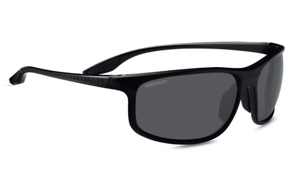 Serengeti Ponza Sunglasses Shiny Black, Dark Grey