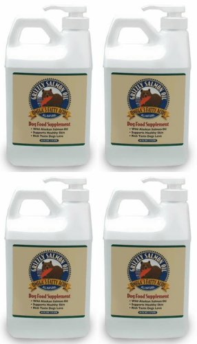 Grizzly Salmon Oil for Dogs 256oz (4 x 64oz) by Grizzly