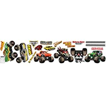 Monster Jam Childrens Room Decorations - Small Wall Decals