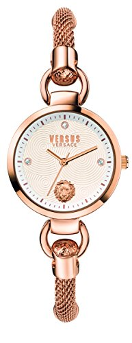 Versus by Versace Women's 'ROSLYN BRACELET' Quartz Stainless Steel Casual Watch, Color:Rose Gold-Toned (Model: S63060016)
