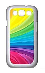 Samsung Galaxy S3 I9300 Cases & Covers - Liquidity Color Background PC Custom Soft Case Cover Protector for Samsung Galaxy S3 I9300 - White