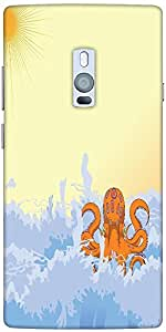 Snoogg Summer Illustrattion Designer Protective Back Case Cover For One Plus Two