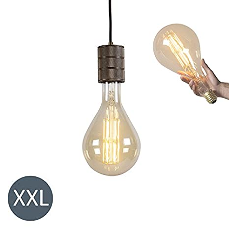 Calex Diseño Lámpara colgante SPLASH bronce con bombilla LED regulable Vidrio/Metálica Esfera/Alargada Adecuado para LED Max. x 11 Watt: Amazon.es: ...
