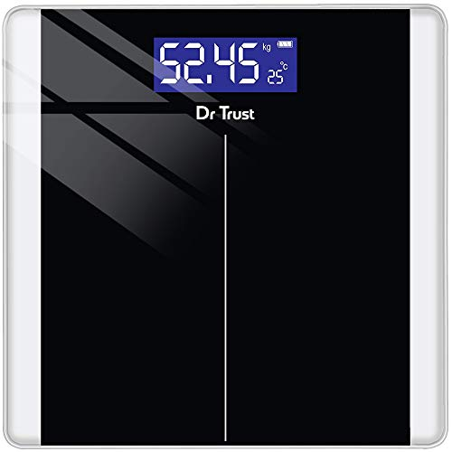 Dr Trust (USA) Balance Personal Digital Electronic Body Weight Machine for Human Body 180kg Capacity Weighing Scale- 513…