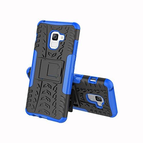 Caja antideslizante al aire libre Sport Back para Samsung Galaxy A8 + (2018) ( Color : Orange ) Blue