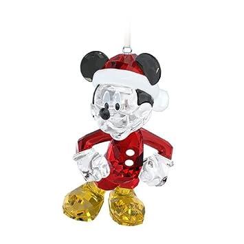 Amazon.com: Swarovski Disney Mickey Mouse Christmas Ornament ...