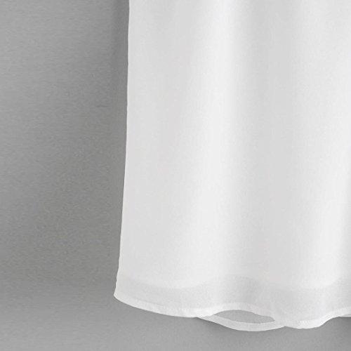 Mangas Blusa Cuello Mujer Chaleco Blanco Esailq Para Redondo Sin RqXxax