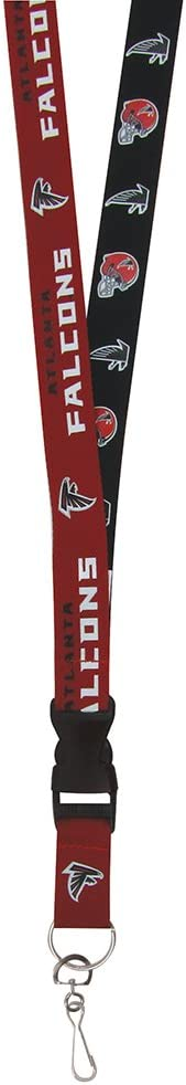 Red//Black One Size Pro Specialties Group NFL Atlanta Falcons Throwback Lanyards