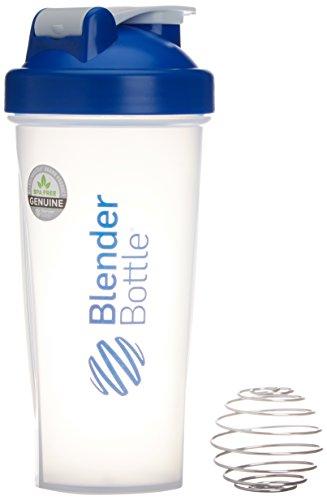 BlenderBottle Classic Shaker Bottle, Clear/Blue, 28-Ounce