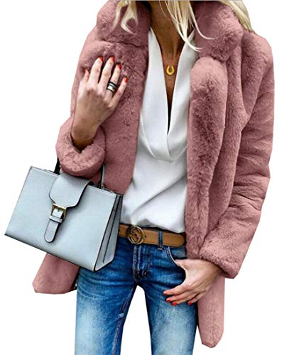 EKU Fur Color Length Coat Women's Faux Notch Long Collars with 1 Solid Mid Sleeve SwY4gSrq