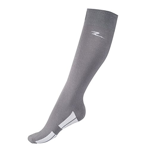 Horze-STEEL-GREY-Adult-Coolmax-Tall-Knee-Stretchable-Breathable-Tread-Socks-US-6-75EU-36-38