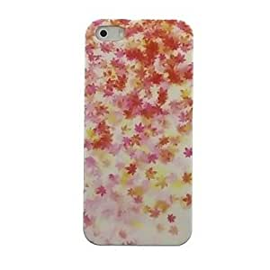 JJE Maple leaves Pattern Hard Case for iPhone5/5S