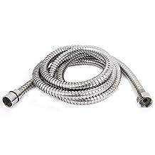 uxcell® Stainless Steel Shower Hot Water Heater Spiral Flexible Hose 2M Long