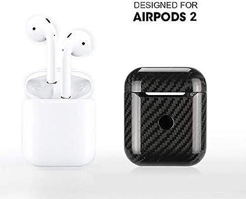 DokFin Funda de fibra de carbono para AirPods 2, [solo para fundas de carga] Ultra delgada para auriculares inalámbricos Apple, estuche para auriculares, protector de auriculares inalámbrico Bleutooth: Amazon.es: Hogar