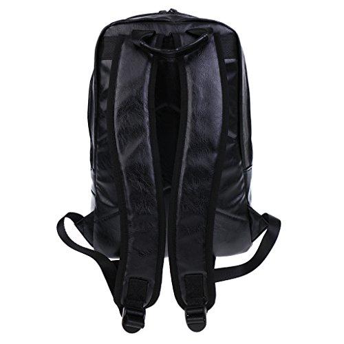 Gazechimp Bolsa para Niños Hombres Viajes Escuela PU Portable Cuero de Poliuretano Durdero Accesorio Negro 2