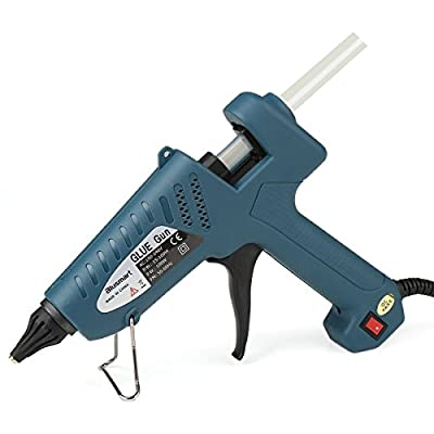 Blusmart 100-Watt Industrial Glue Gun High Temperature Hot Melt Glue Gun with 10pcs Glue Sticks,Dark Green