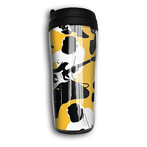 Guitar Player Home Travel Camping ABS Plastic Cups Unique Printed Curve Insulated Cups