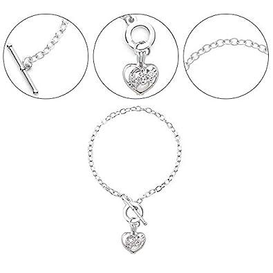 Daliuing Crystal Openwork Bracelet with Pendant 20cm2.3cm1.7cm