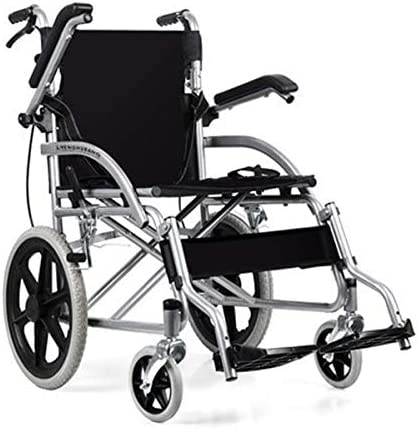 自走用 車椅子 軽量 折りたたみ自走型車いすノーパンクタイヤ 介助式 ブレーキ付き折り畳み介助用コンパクト車イス