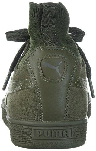 Puma Menns Semsket Klassisk Sokk Sneaker Oliven Natt-oliven Natt