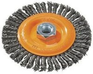 Walter 13K454 Stringer Bead Wire Wheel Brush - 4-1/2 in. Carbon Steel Wire Brush with Threaded Hole. Abrasive Power Brushes