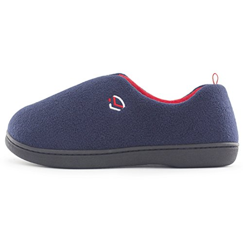 Women's w Indoor Loafers Foam House Sole Fleece Comfort Navy Memory Shoes Slippers on Slip Outdoor Polar Block Color Blue rOrwqHSR