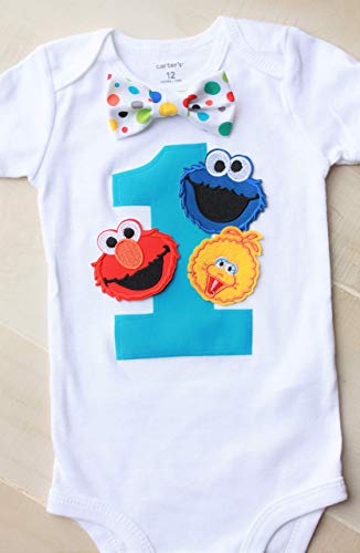 Sesame Street Birthday Outfit, Elmo Birthday Outfit, Cookie Monster Birthday Outfit]()