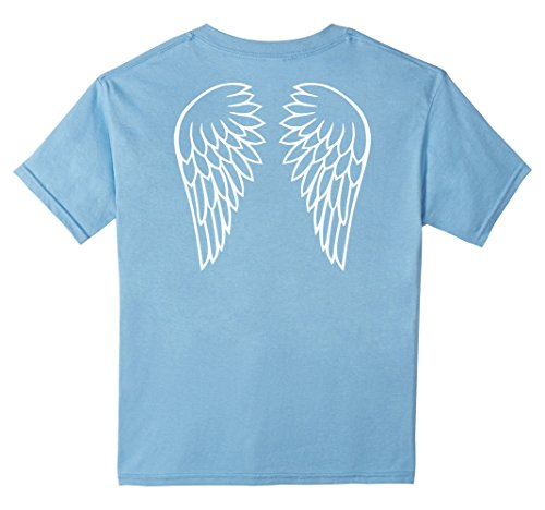 Kids Angel wings T-Shirt 6 Baby Blue